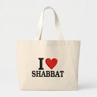 I love Shabbat Large Tote Bag