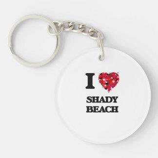 I love Shady Beach Connecticut Single-Sided Round Acrylic Keychain