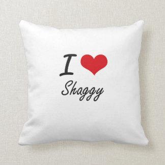 I Love Shaggy Pillows