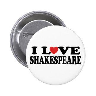 I Love Shakespeare Gift Pinback Button