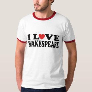 I Love Shakespeare Gift T-Shirt