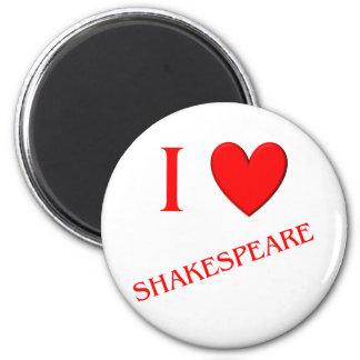 I Love Shakespeare Fridge Magnet