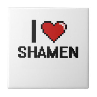 I love Shamen Small Square Tile