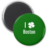 I love (shamrock) Boston St Patricks Day Refrigerator Magnets