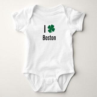 I love (shamrock) Boston St Patricks Day T Shirts