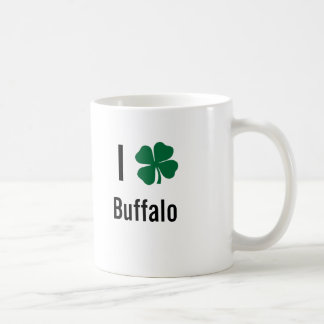 I love (shamrock) Buffalo St Patricks Day Coffee Mug