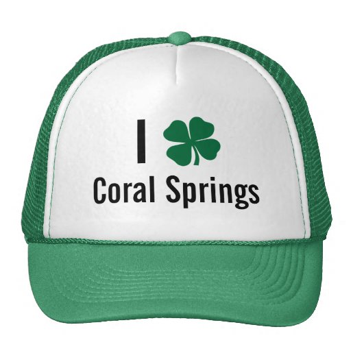 I love (shamrock) Coral Springs St Patricks Day Trucker Hat