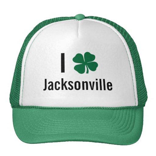 I love (shamrock) Jacksonville St Patricks Day Trucker Hat
