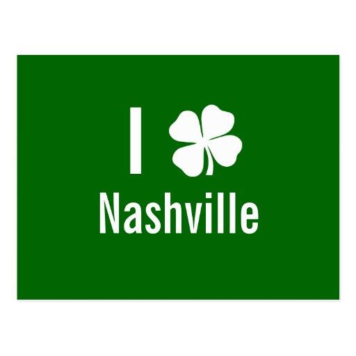 I love (shamrock) Nashville St Patricks Day Postcard
