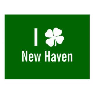 I love (shamrock) New Haven St Patricks Day Post Cards