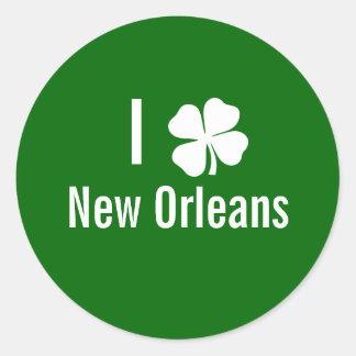 I love (shamrock) New Orleans St Patricks Day Sticker