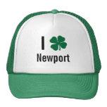 I love (shamrock) Newport St Patricks Day Hat