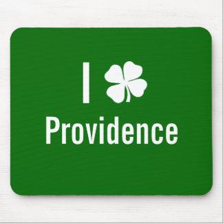 I love (shamrock) Providence St Patricks Day Mouse Pad