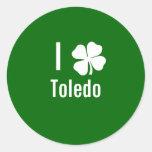 I love (shamrock) Toledo St Patricks Day Sticker