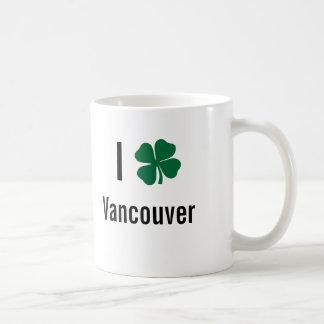 I love (shamrock) Vancouver St Patricks Day Coffee Mugs
