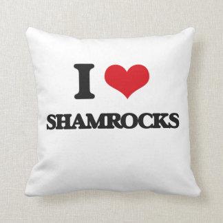 I Love Shamrocks Pillow