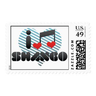 I Love Shango Postage Stamp