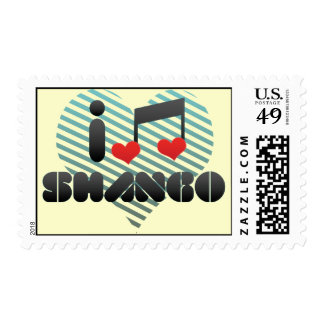 I Love Shango Postage Stamps