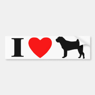I Love Shar Peis Bumper Sticker