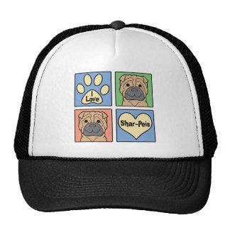 I Love Shar-Peis Hat