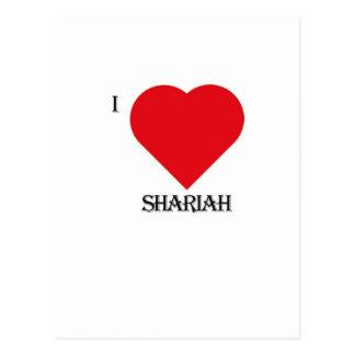 I Love Shariah Postcard