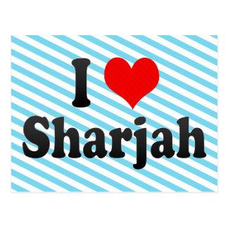 I Love Sharjah, United Arab Emirates Postcard