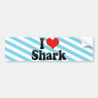 I Love Shark Car Bumper Sticker