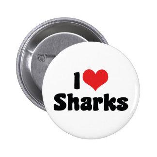 I Love Sharks Button