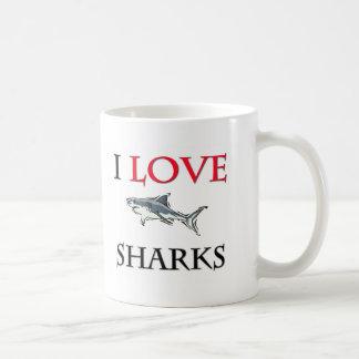 I Love Sharks Coffee Mugs