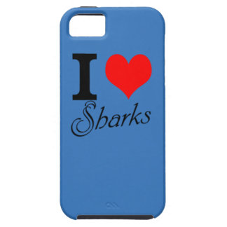 I Love sharks iPhone 5 Cases