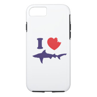 I Love Sharks iPhone 8/7 Case