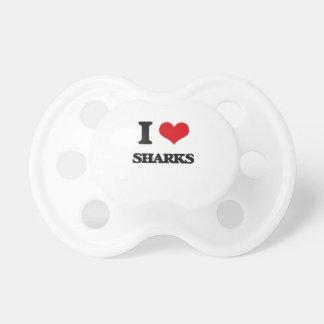 I Love Sharks BooginHead Pacifier