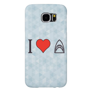 I Love Sharks Samsung Galaxy S6 Case