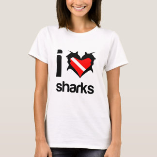 I Love Sharks T-Shirt Design