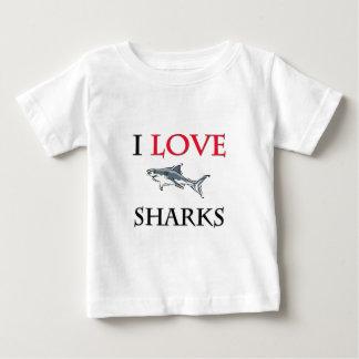 I Love Sharks Tee Shirt