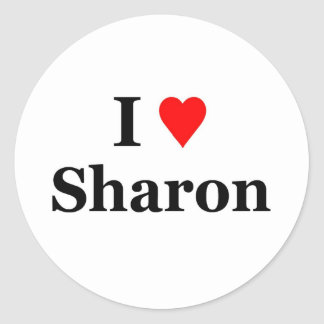 I love Sharon Classic Round Sticker