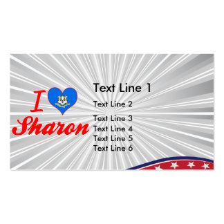 I Love Sharon, Connecticut Business Card