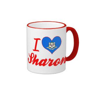 I Love Sharon, Connecticut Coffee Mugs