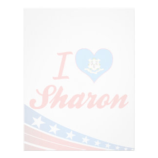 I Love Sharon, Connecticut Letterhead Design