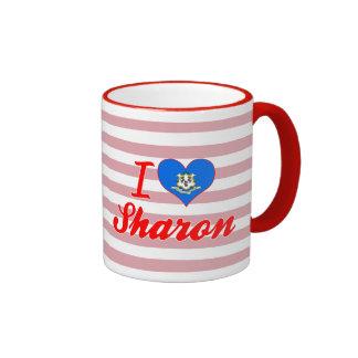 I Love Sharon, Connecticut Mug