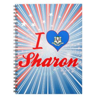I Love Sharon, Connecticut Note Books