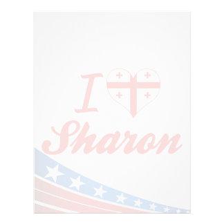 I Love Sharon, Georgia Letterhead Template