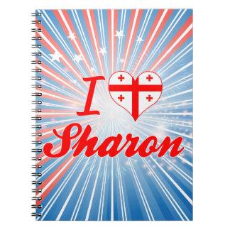 I Love Sharon, Georgia Spiral Note Book