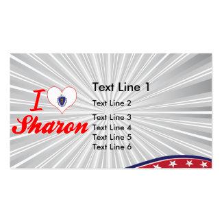 I Love Sharon, Massachusetts Business Card Template