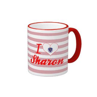 I Love Sharon, Massachusetts Coffee Mugs