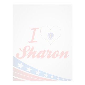 I Love Sharon, Massachusetts Letterhead Design