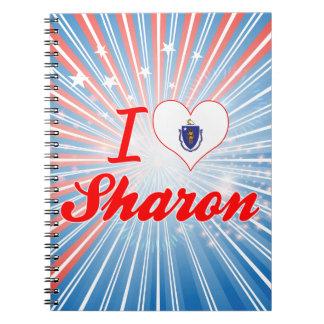 I Love Sharon, Massachusetts Note Book
