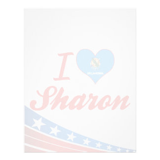 I Love Sharon, Oklahoma Letterhead Template