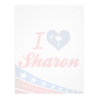 I Love Sharon, South Carolina Personalized Letterhead