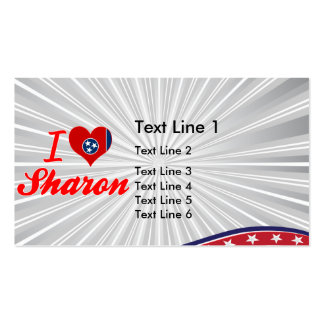 I Love Sharon, Tennessee Business Card Template